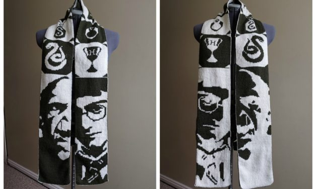 Double-Knit 'The Scarf-That-Must-Not-Be-Named (Harry Potter)' Designed By Tess Campbell
