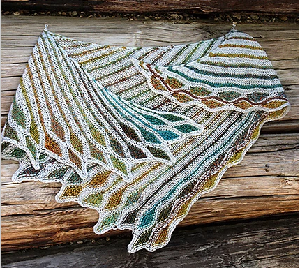 The 'Jeopardy Shawl' Pattern Is Here! It's Called Willow, Designed By Natalia Moreva.