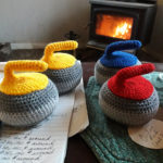 Crochet a Cute Curling Rock Pincushion