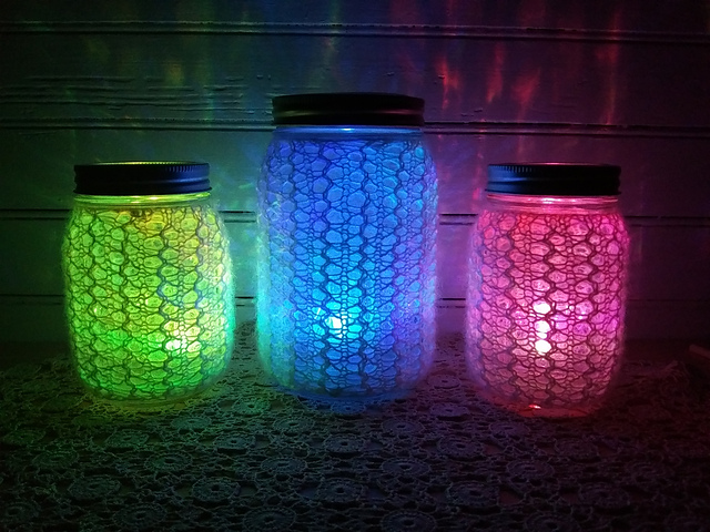 Knit a Set of 'Light Up The Night' Jars ... They Really Light Up!