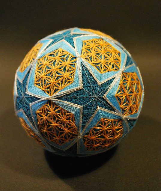 Beautiful Temari, A Traditional Japanese Folk Art Featuring Intricately Designed Thread-Wrapped Balls