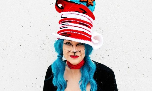 She Crocheted a Whimsical Hat Featuring the Dr. Suess Cat In A Hat Fish! So GOOD!