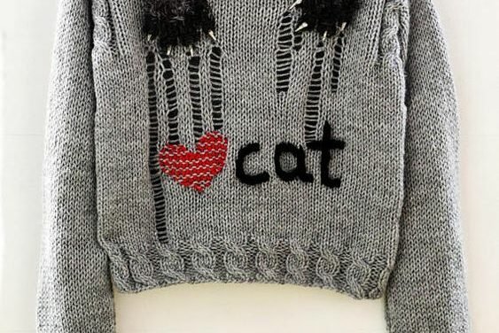 This Distressed Kitty-Cat Knit Is 100% Yarnspiring!