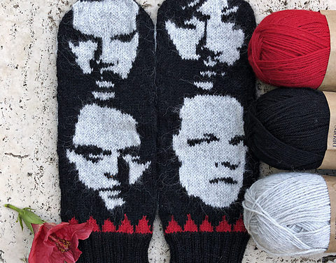 Knit a Pair of Metallica Mittens, Designed By Lotta Lundin