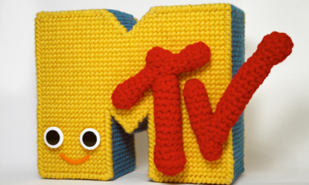 Nicole Gastonguay's Crochet and Needlepoint MTV Logo