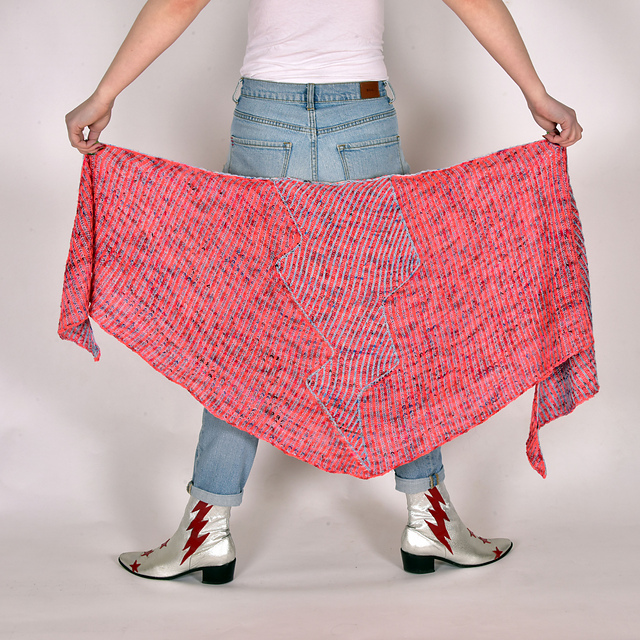 Knit a Dazzling Thunderbolt Shawl Designed By Xandy Peters