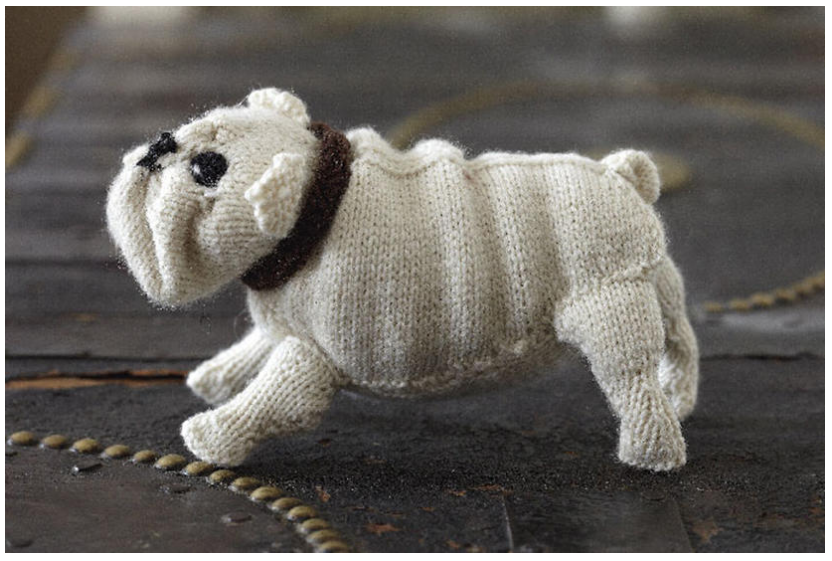 Knit a Bulldog Amigurumi With a Free Pattern From Canadian Living!