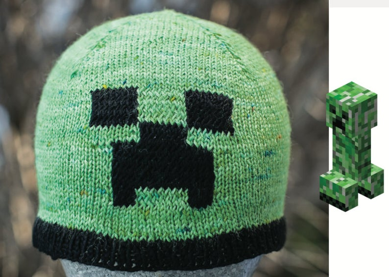 Get the Minecraft inspired pattern, designed by Handmade By Smine #minecraft