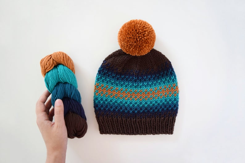 Designer Spotlight: Easy Knit Hat Patterns Designed By Destiny Meyer, Including One Like Prince Archie's 'Bobble' Pom-Pom Hat!