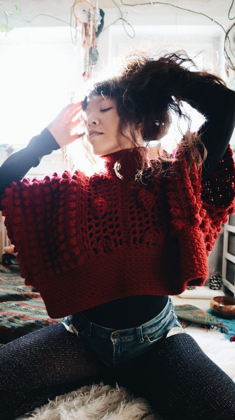 Crochet a Gorgeous, Cropped, Oversized Butterfly Bolero ... This Design Turns Heads!