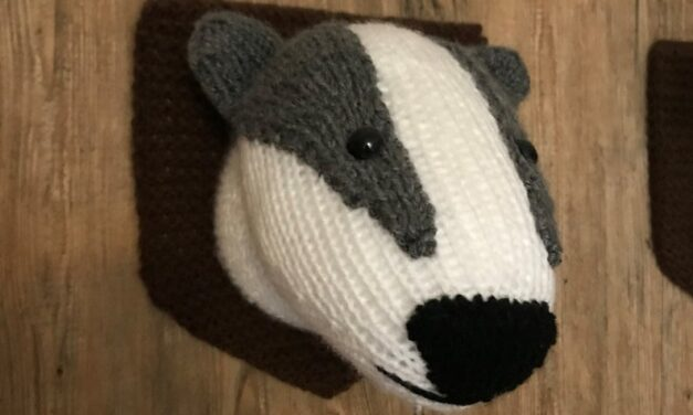 Fauxidermy For You: Knit a Badger Head, Cruelty-Free!