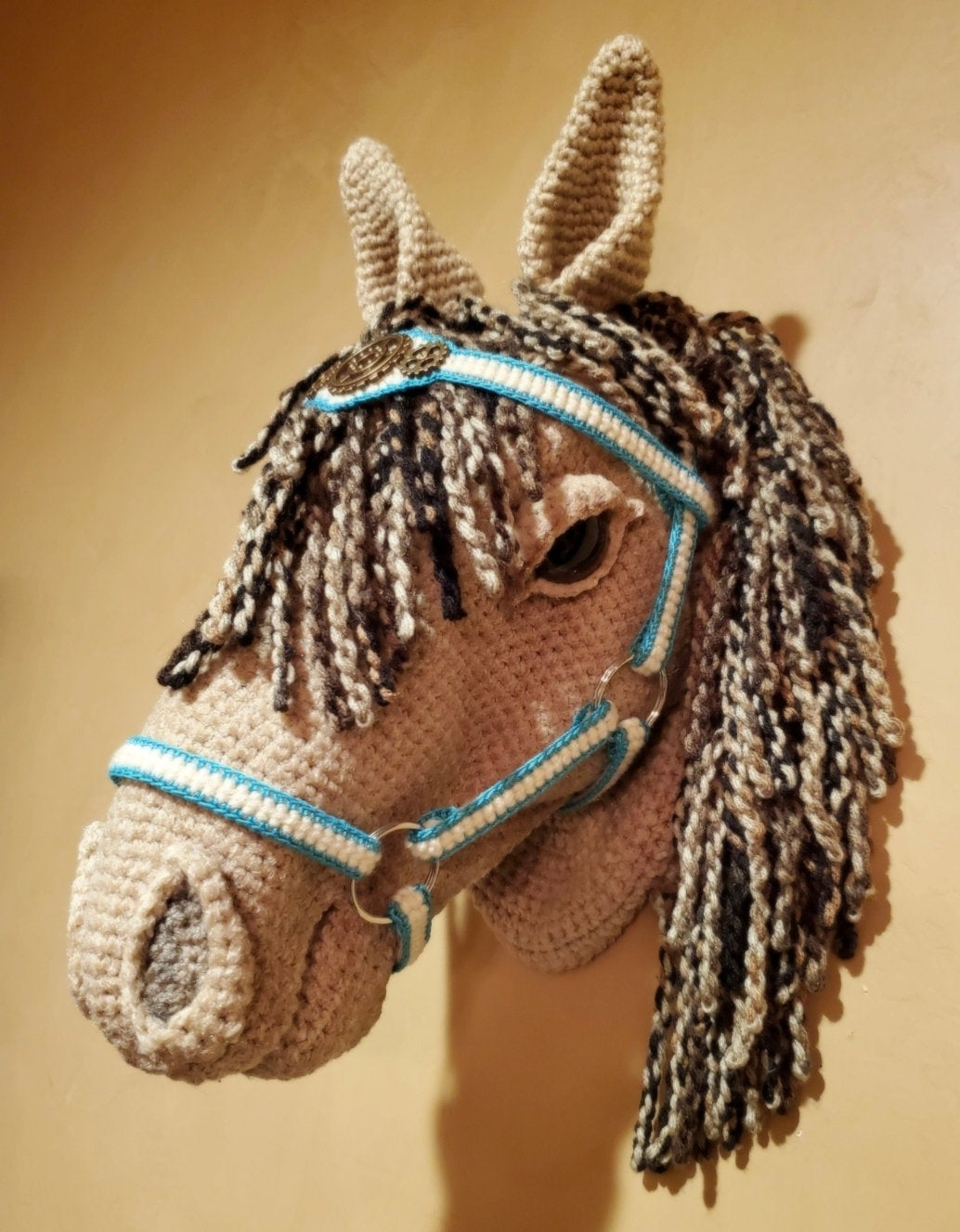 Crochet a Horse Head Wall Sculpture ... For Fans of Fauxidermy
