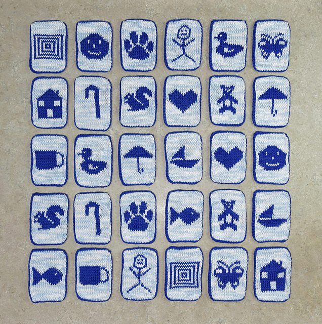 Brilliant! Knit a Mix & Match Memory Game ... Makes a Great Gift For Kids AND Teachers Too!