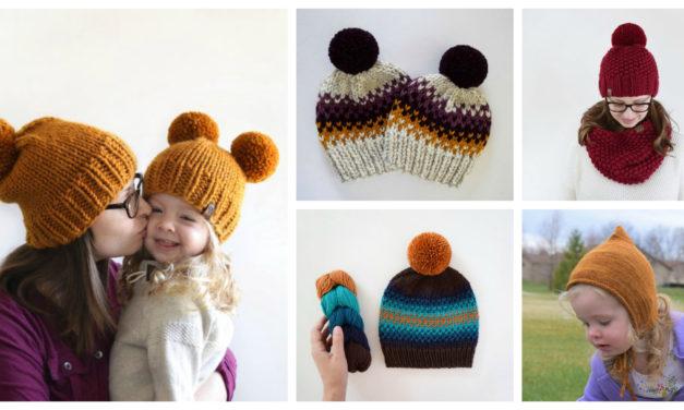 Designer Spotlight: Easy Knit Hat Patterns Designed By Destiny Meyer, Including One Like Prince Archie's 'Bobble' Pom-Pom Hat!