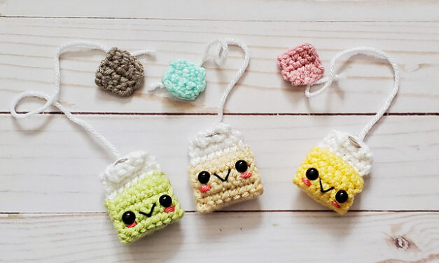 Crochet a Lil Teabag Amigurumi Bookmark … So Wee!