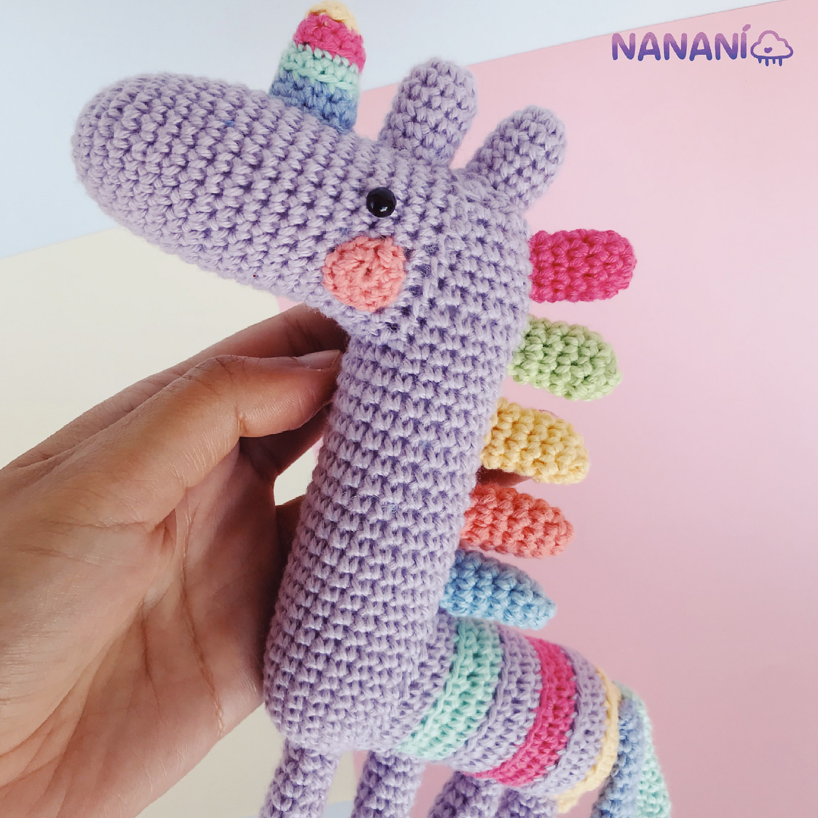 Phat the Rainbow Unicorn Amigurumi Pattern & Kit – Tiny Rabbit ... | 1600x1600