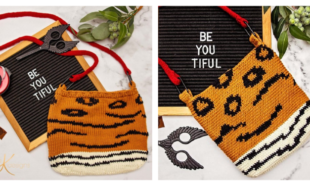 2 Crafts 1 Animal Print Purse … Pattern Available In Knit OR Crochet!