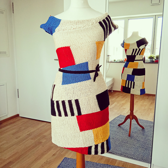 Spring Is Coming … Knit a Mondrian Dress Designed By Veronica Mas