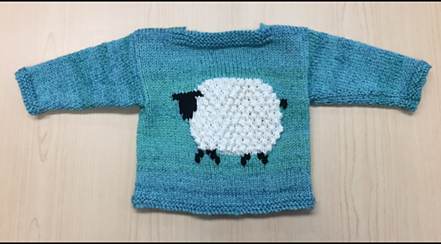Knit a Mary's Little Lamb Cardigan … So Cute!