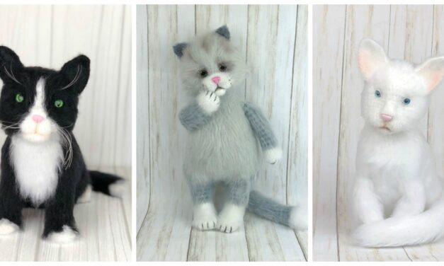Everyday Can Be Caturday … These Crochet Cats Are Turning Heads, They Look So Real! You Can Make 'Em!