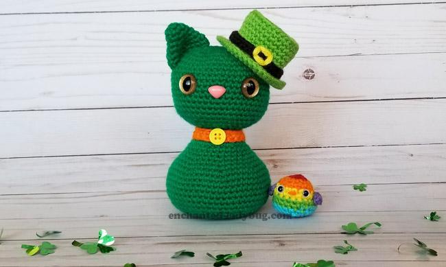 Crochet a St. Patrick's Day Cat and Rainbow Bird Amigurumi … Free Pattern!
