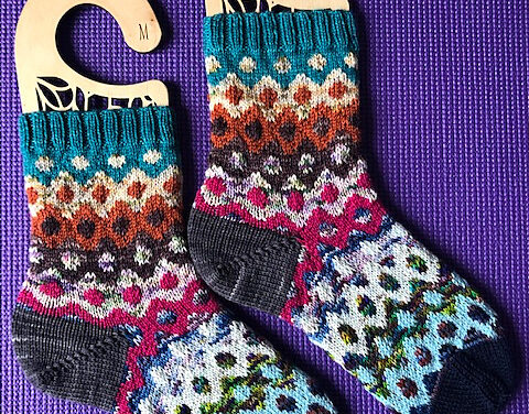 Knit a Pair of Electric Scrappy Socks … Stashbuster Extraordinaire!
