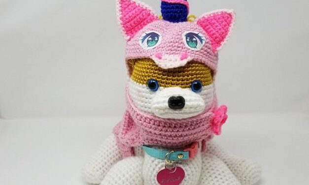Crochet a Pomeranian Dog Amigurumi, Comes With Unicorn Cosplay!