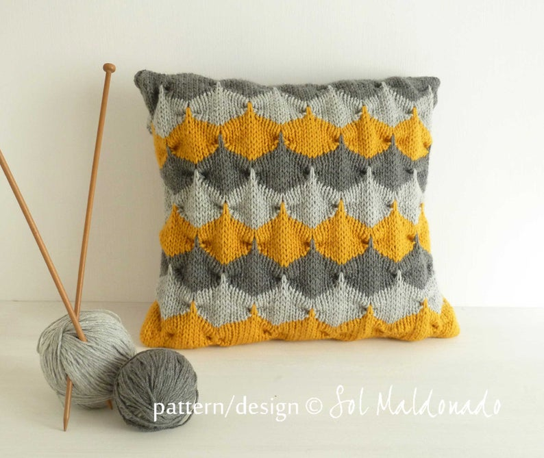 Get the 3D knit pattern #knitting #art #fiberart