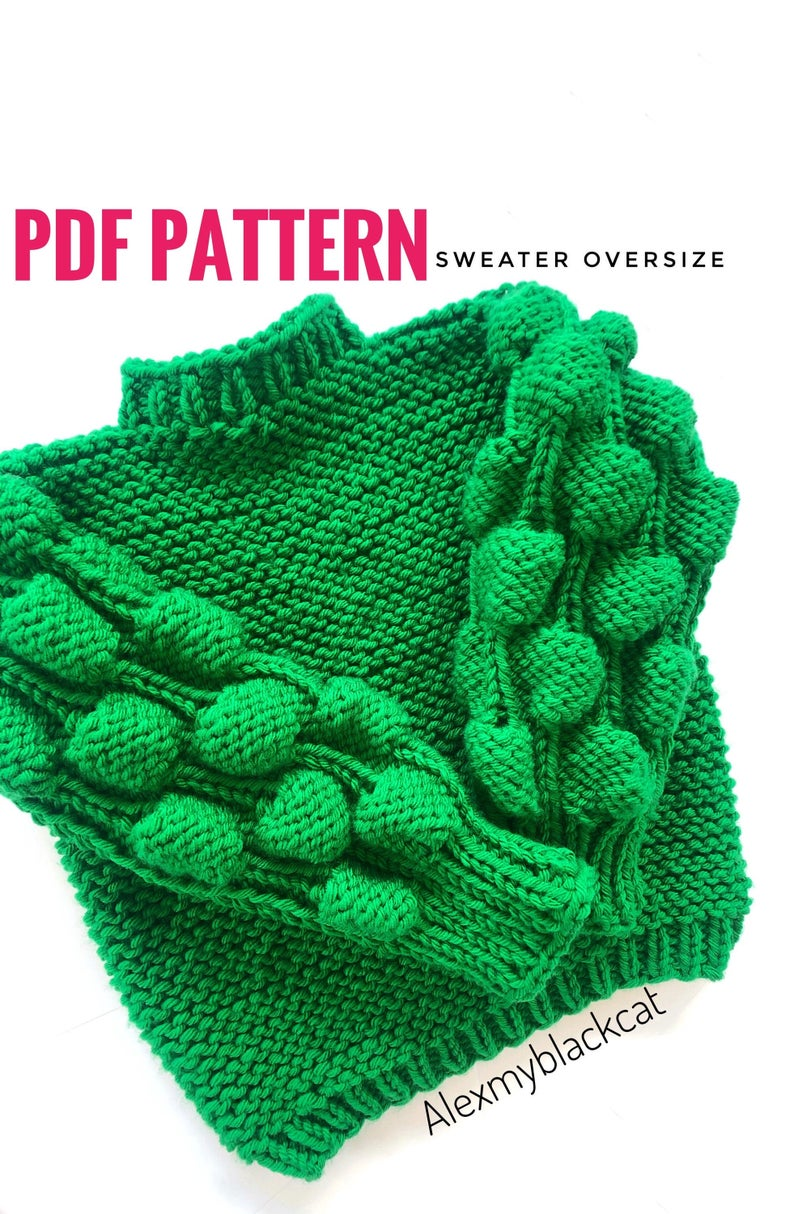 This Oversized Sweater Uses 3D Knitting For Texture & Style ... Get The Pattern!