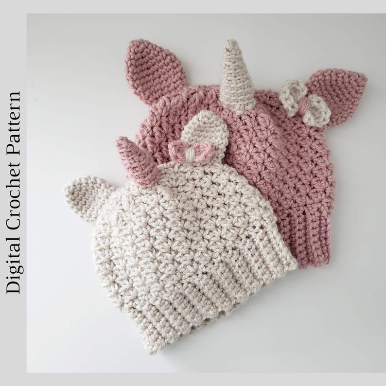 Crochet a Cute Unicorn Beanie ... How Old Is Too Old For This One?
