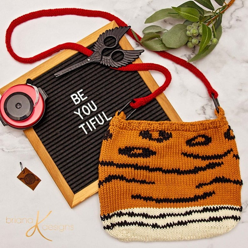 2 Crafts 1 Purse ... Fun Animal Print Bag You Can Knit OR Crochet!