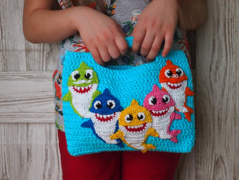 Everyone Needs A Crocheted Shark Handbag!
