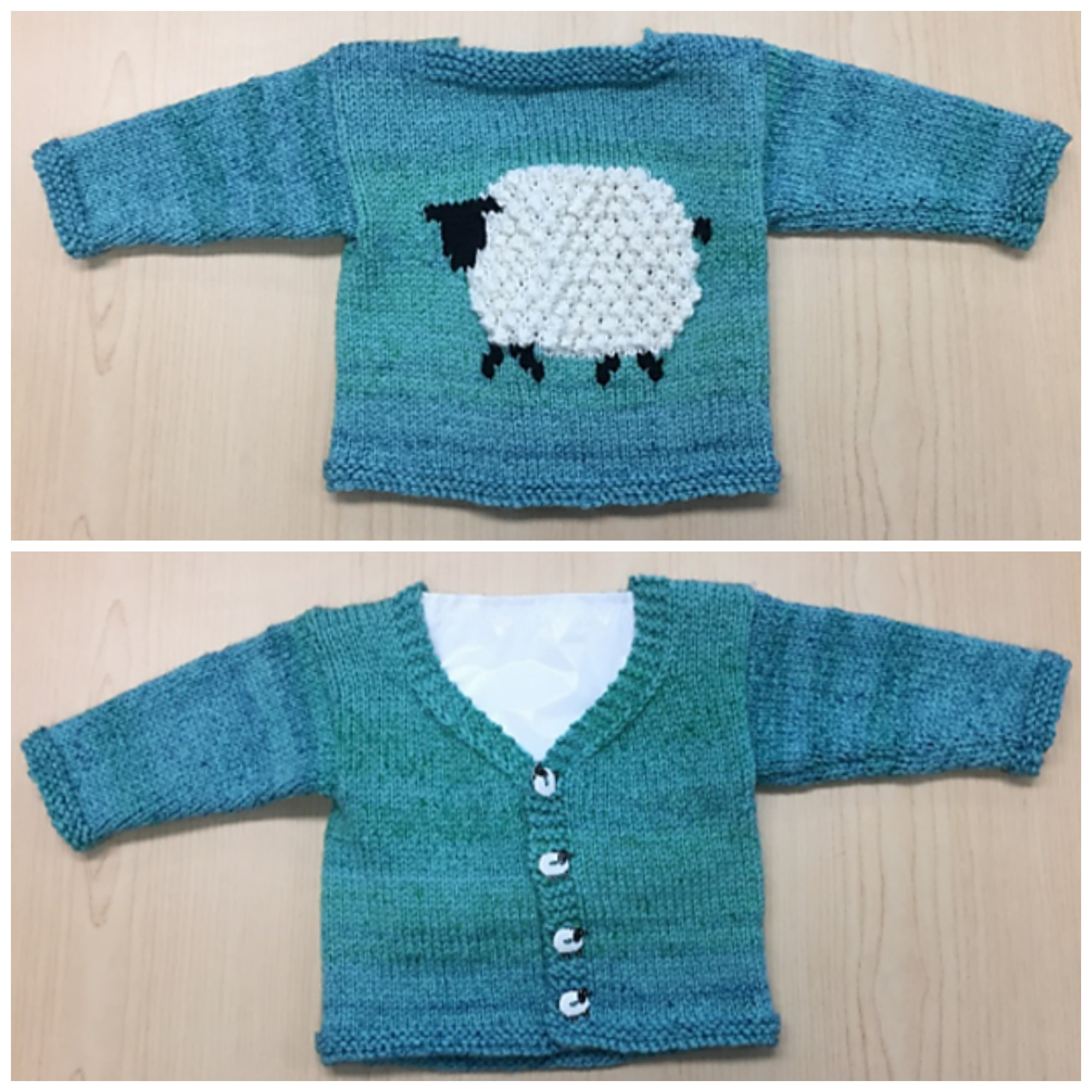 Knit a Mary's Little Lamb Cardigan ... So Cute!