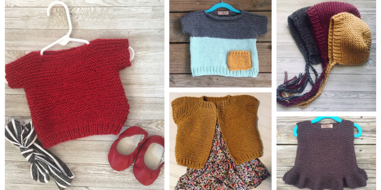 Designer Spotlight: Modern Knits For Kids, Beginner Patterns Designed By Sealed With a Kris