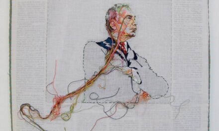 Hand-Embroidered Issues of The New York Times Featuring Bloomberg, Gaga, Clinton and Obama … It's Lauren DiCioccio's SewnNews