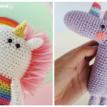 Two Cute and Comical Rainbow Unicorn Amigurumi Patterns, Who Will YOU Choose?