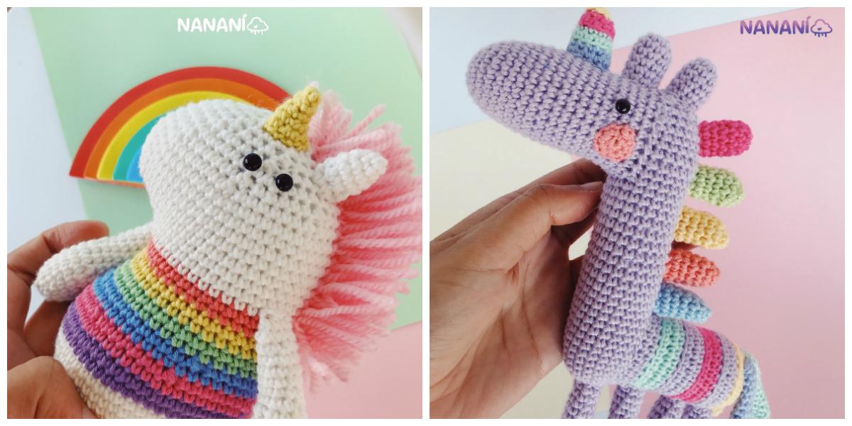 Tiny Unicorn Amigurumi Free Crochet Pattern – Knitting Projects | 600x1200