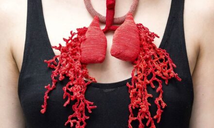 Coral Breath Necklace Sculpture By Lidia Puica