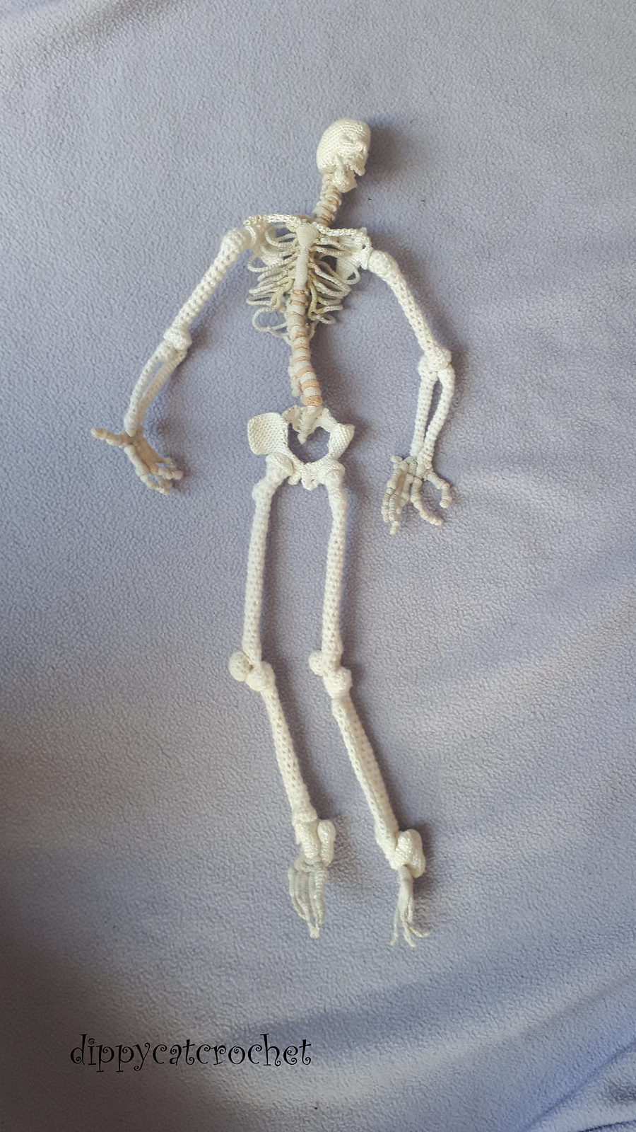 Crochet an Anatomically Correct Skeleton - FREE Pattern Includes All 206 Bones, 1/5th Size Scale Model!