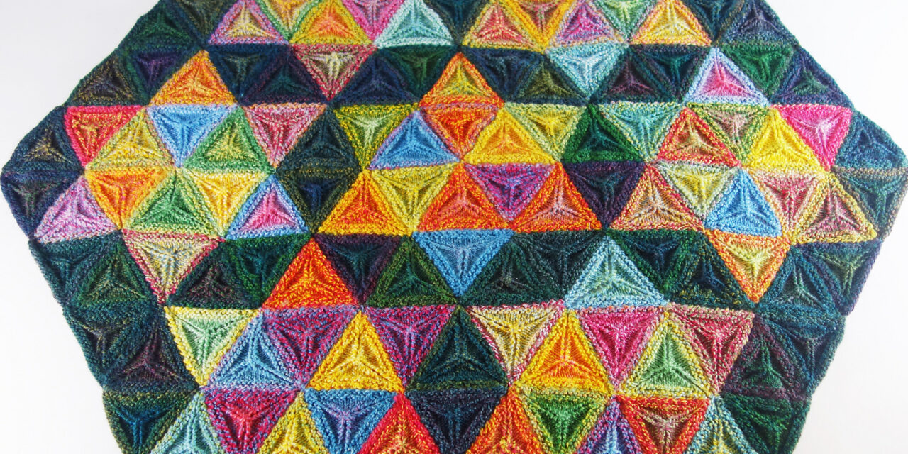 Knit a Seven Sisters Stars Afghan … Gorgeous 3D, Geometric & Textured Pattern, FREE From Frankie Brown