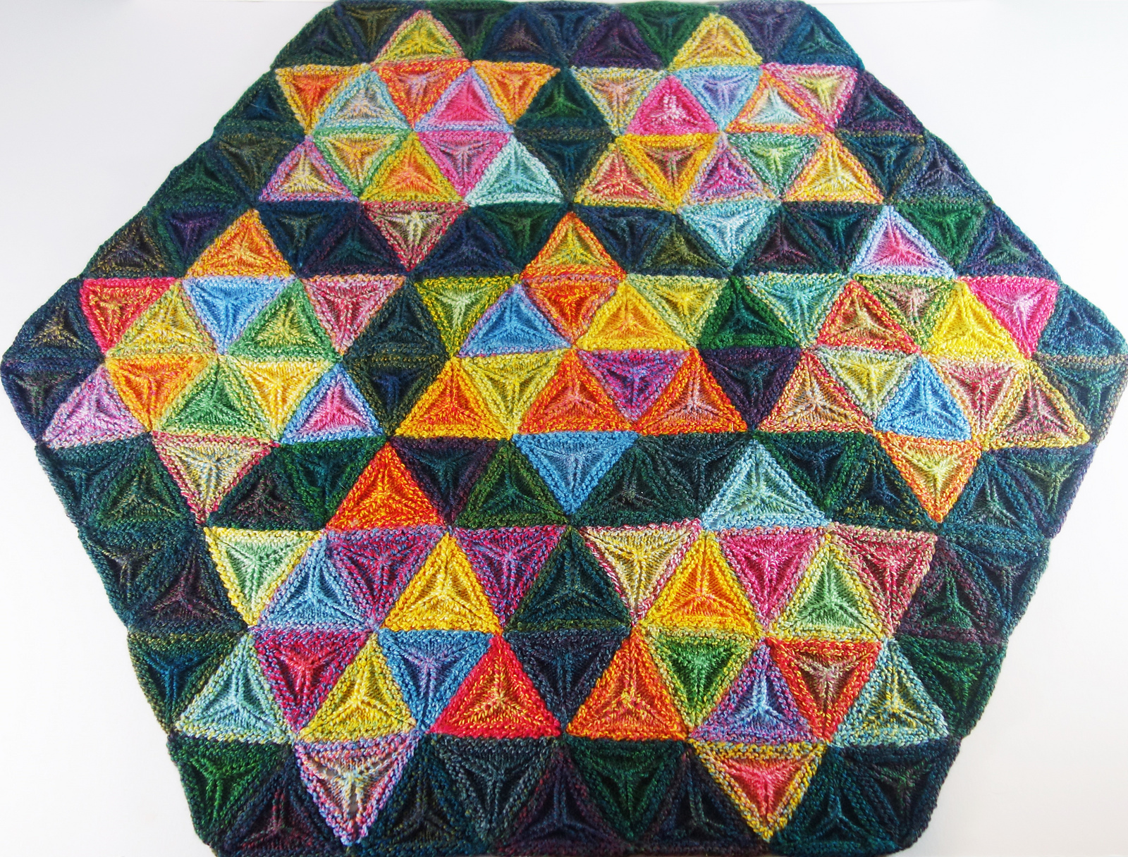 Knit a Seven Sisters Stars Afghan … Gorgeous 3D, Geometric ...