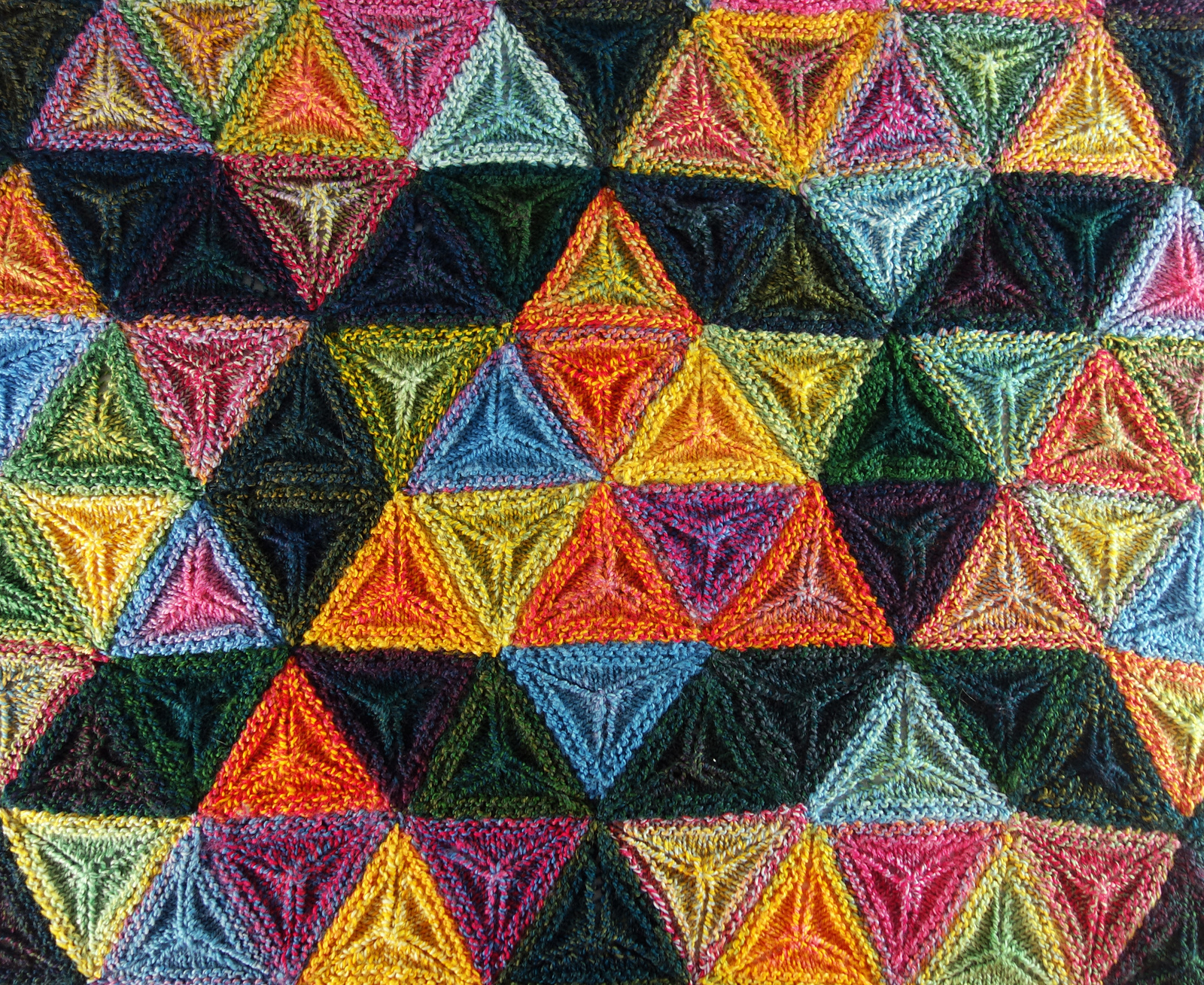 Knit a Seven Sisters Stars Afghan ... Gorgeous 3D, Geometric & Textured Pattern, FREE From Frankie Brown