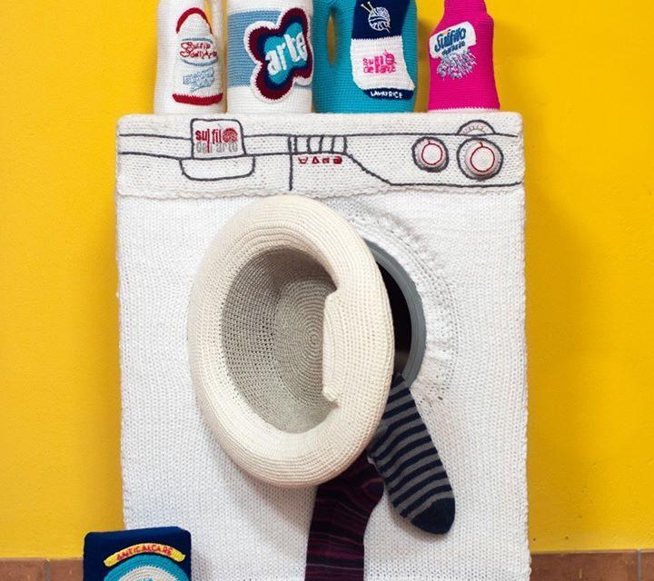 I Spy a Knit and Crochet Washing Machine!