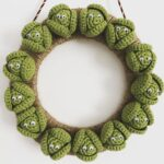 And Now For Something Different … A Christmas Wreath Made From Crochet Brussels Sprouts Amigurumi