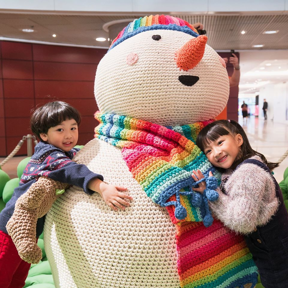 Anne Galante's Life Sized Crochet Snowman Amigurumi ... The Only Thing That Melts Is Our Hearts