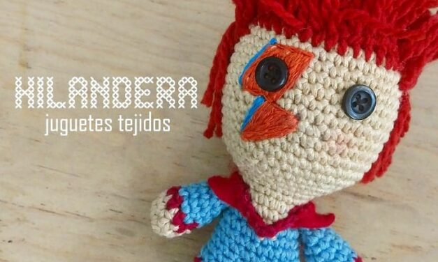 David Bowie Aladdin Sane Amigurumi Crocheted By Hilandera