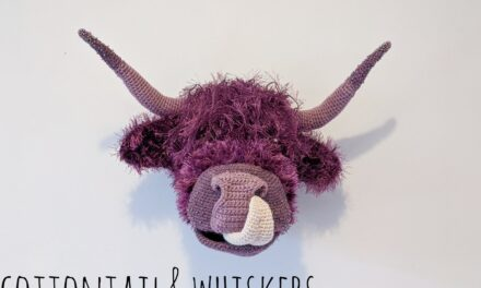 Crochet Your Own Cow Trophy Head, Jumbo Tongue Included!