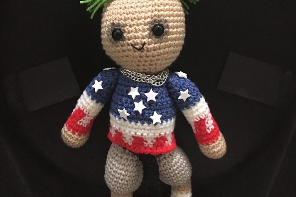 Keith Flint Amigurumi Crocheted By Wicked Stitches