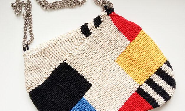 De Stijl My Beating Heart … Knit a Mondrian Purse Designed By Veronica Mas