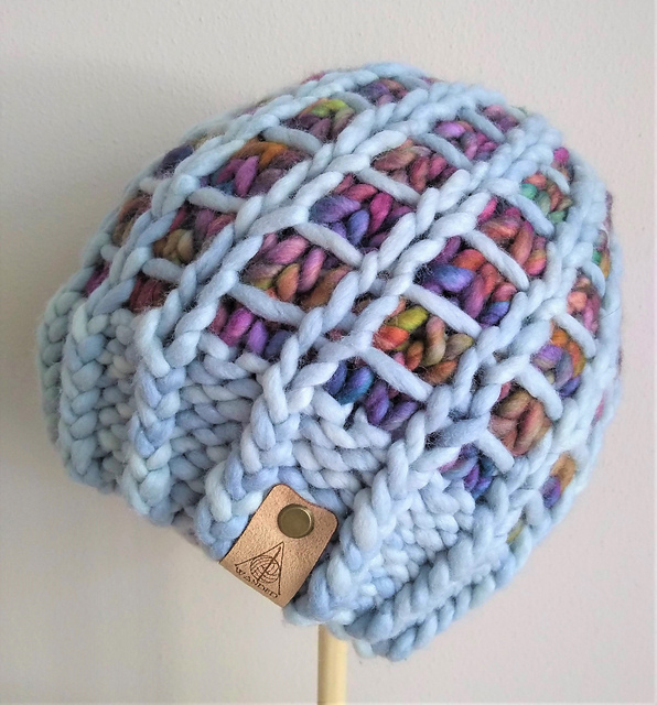 Knit a Harry Potter-Inspired 'Restricted Section Hat' … It's a Gorgeous Grid, Filled To The Brim With Color!